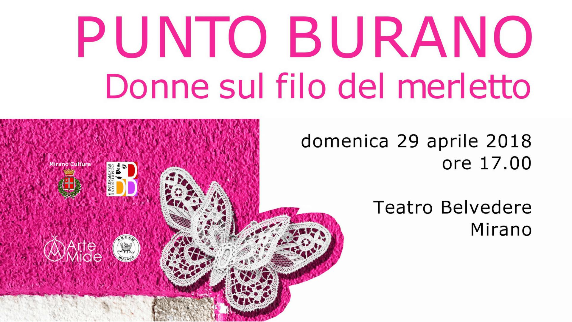"""""""Punto Burano"""" al Teatro Villa Belvedere a Mirano"""