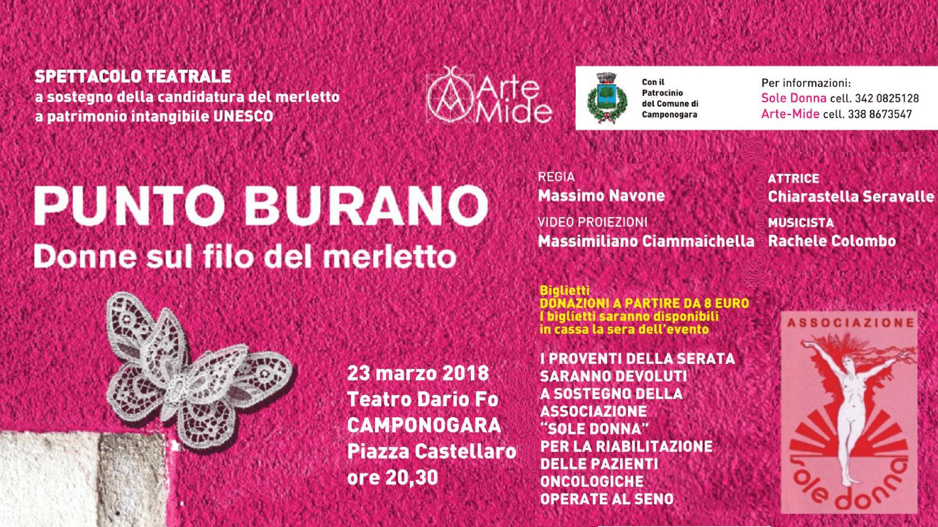 """Punto Burano"" al Teatro Dario Fo di Camponogara"