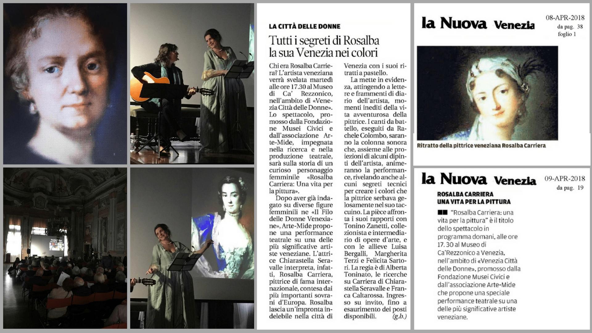 """Rassegna stampa dell'evento museale """"Rosalba Carriera: una vita per la pittura"""""""