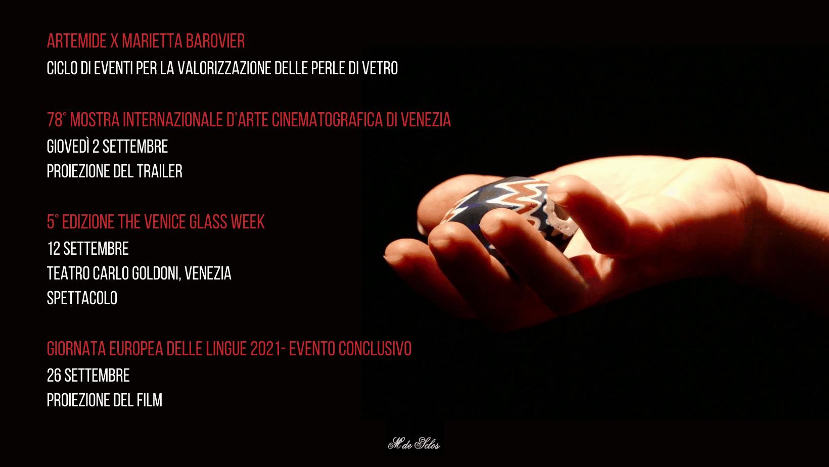 """Ciclo di eventi per """"La Donna del Fuoco Marietta Barovier. Pioniera delle Perle Veneziane"""""""
